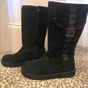UGG Black Tall Boots Size 8!